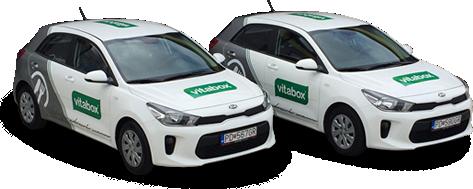 vitabox rozvoz - autá